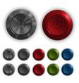 plastic button set vector image