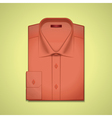 red classic mens shirt vector image vector image