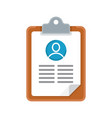 resume cv icon vector image