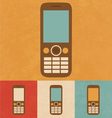 Retro Phone Icon vector image vector image
