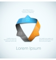 Ribbon infographic vector image vector image