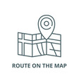route on map line icon linear concept vector image vector image