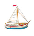 sailing boat yacht seascape resort beach rest vector image vector image