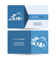 sale and construction of housing business card vector image vector image