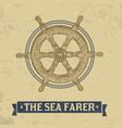 sea farer concept nautical helm wheel vector image