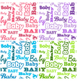 Seamless Baby Shower Backgrounds vector image vector image