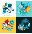 Security System Concept Icons Set vector image