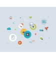 seo and data protection icons vector image