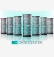 server room hosting big data center cloud vector image