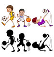 set of at athlete character vector image vector image