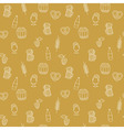 simple bright beer mug seamless pattern vector image