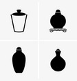snuff bottles vector image vector image