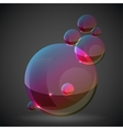 soap bubble on black background vector image