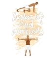 Sport motivation poster vector image