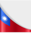taiwan flag background vector image vector image