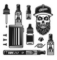 vape devices e-cigarettes set of objects vector image vector image