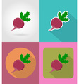 vegetables flat icons 16 vector image vector image