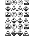 Video surveillance signs - Big yellow and black vector image vector image