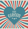 vintage circus festival background red and blue vector image vector image