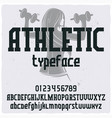 vintage label typeface named athletic vector image