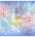 winter Medieval Old Town Tallinn Estonia vector image vector image