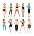 Women in sportswear vector image vector image