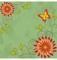 Flower vintage background Invitation or greeting vector image