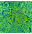 Monstera leaves in paisley style vector image
