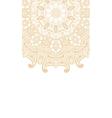 Round brown mandala background vector image