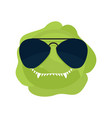 angry cabbage aggressive green vegetable vector image