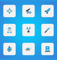 battle colorful icons set collection of artillery vector image