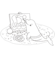 Beluga whale painter vector image vector image