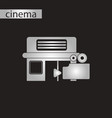 black and white style icon building cinema camera vector image