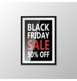 Black Friday type marketing template vector image