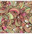 Bohemian style seamless tile vector image vector image