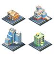 Building Isometric Icon Set vector image