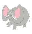cartoon african elephant animal character vector image vector image