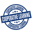 cooperative learning blue round grunge stamp vector image vector image