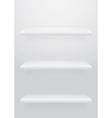 Empty shelf vector image vector image