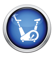 Exercise bicycle icon vector image