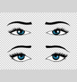 eyes hand drawn female luxury eye vector image