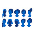 female anonymous profile pictures avatars vector image
