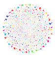flag explosion round cluster vector image vector image