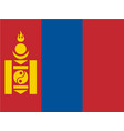 flag of mongolia vector image