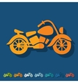 Flat design motorcycle vector image