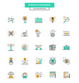 Flat Line Color Icons Business vector image