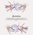 flower lines with tender violet orange flowers vector image