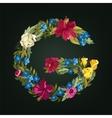 G letter Flower capital alphabet Colorful font vector image vector image