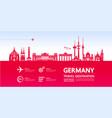 germany travel destination vector image