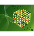 green environment apps cube background vector image